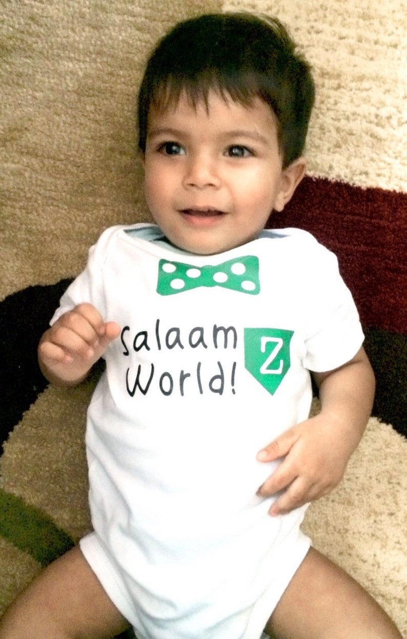 3c9fa61c5 Salaam World Baby Boy Body Suit eid gift newborn gift | Etsy
