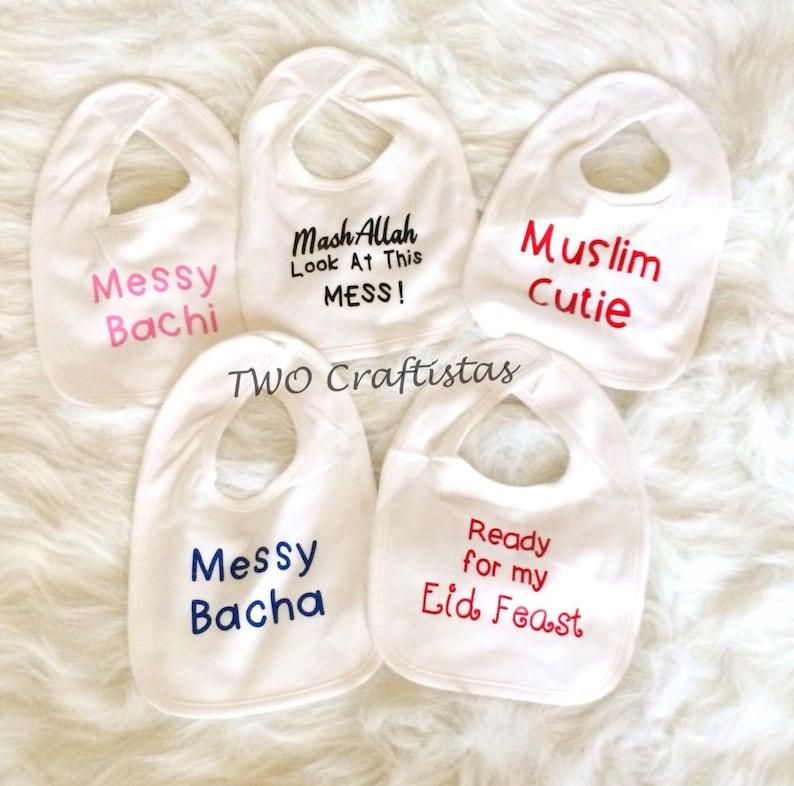 4394c26a0351b Mignon Custom bavoirs bavoir bébé bavoir pour bébé musulman