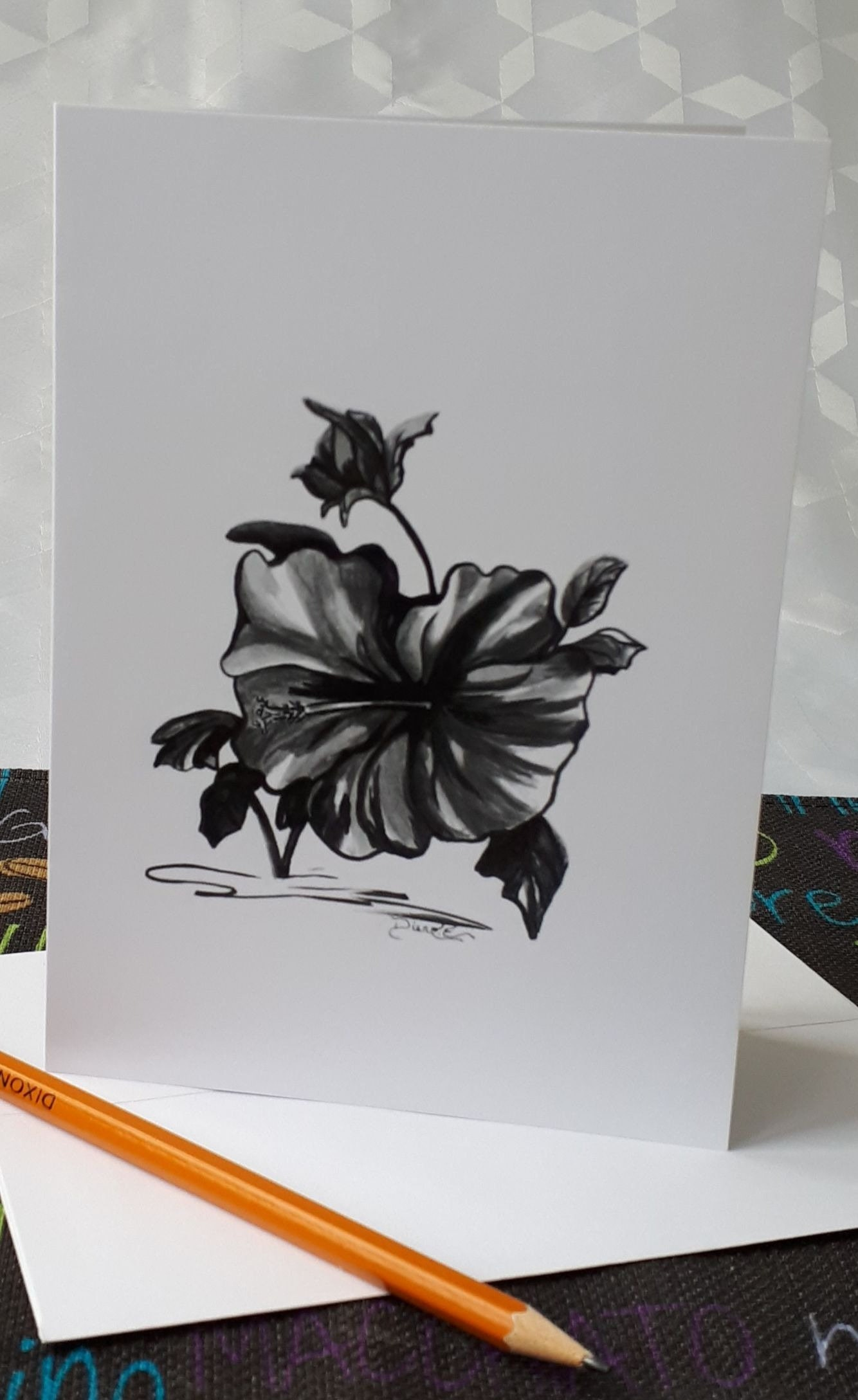 The Birthday Cardmothers Day Card Drawings In Black And White