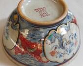 Japanese IMPERIAL IMARI Hand-Painted Signed Ceramic Bowl