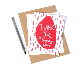 Greeting card blood donation etsy greeting card blood donation 10 m4hsunfo