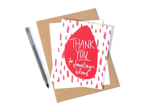 Greeting card blood donation 10 etsy image 0 m4hsunfo