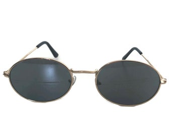 ca15674b4f271 Oval Sunglasses with Gold Frames