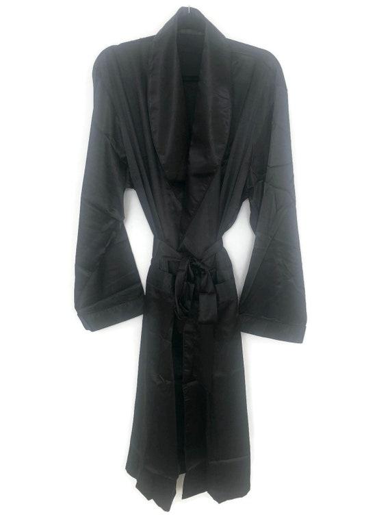 Black Robe | Smoking Jacket | Silk Robe | Retro Dr