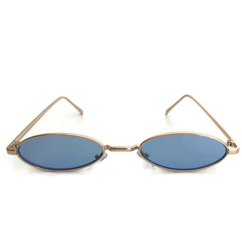 072cec2b1fdc 90s Blue Sunglasses Small Oval Sunglasses Retro Sunglasses