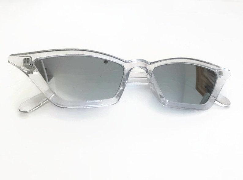 c1089ec6da Retro Clear Sunglasses   Cat Eye Sunglasses  See Through Frame