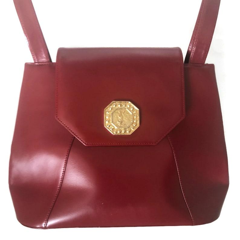 aac05e4554 Yves Saint Laurent Bag YSL Red Leather Purse Vintage Saint | Etsy