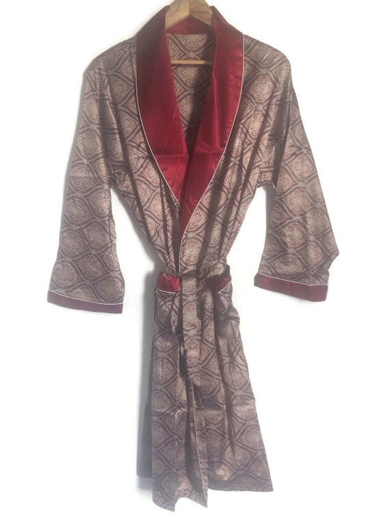 Smoking Jacket | Mens Robe | 70s Retro Dressing Go