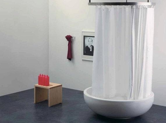 Tende Da Doccia In Lino : Articoli simili a tenda doccia in puro lino resinato bianco