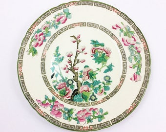 Staffordshire Indian Tree Salad Plate 8 Inch Number 6590 Vintage Myott Made in England porcelain collector estate acquisition