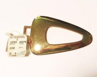 Henri Bendel Pendant Golden Triangle Marci Feld the big 1980s trend Geometric Jewelry from Hawk Vintage Clothing