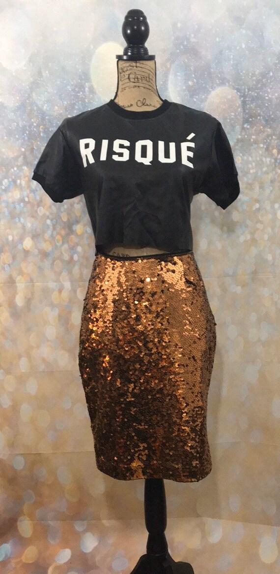 Rare Rust Sequin Skirt