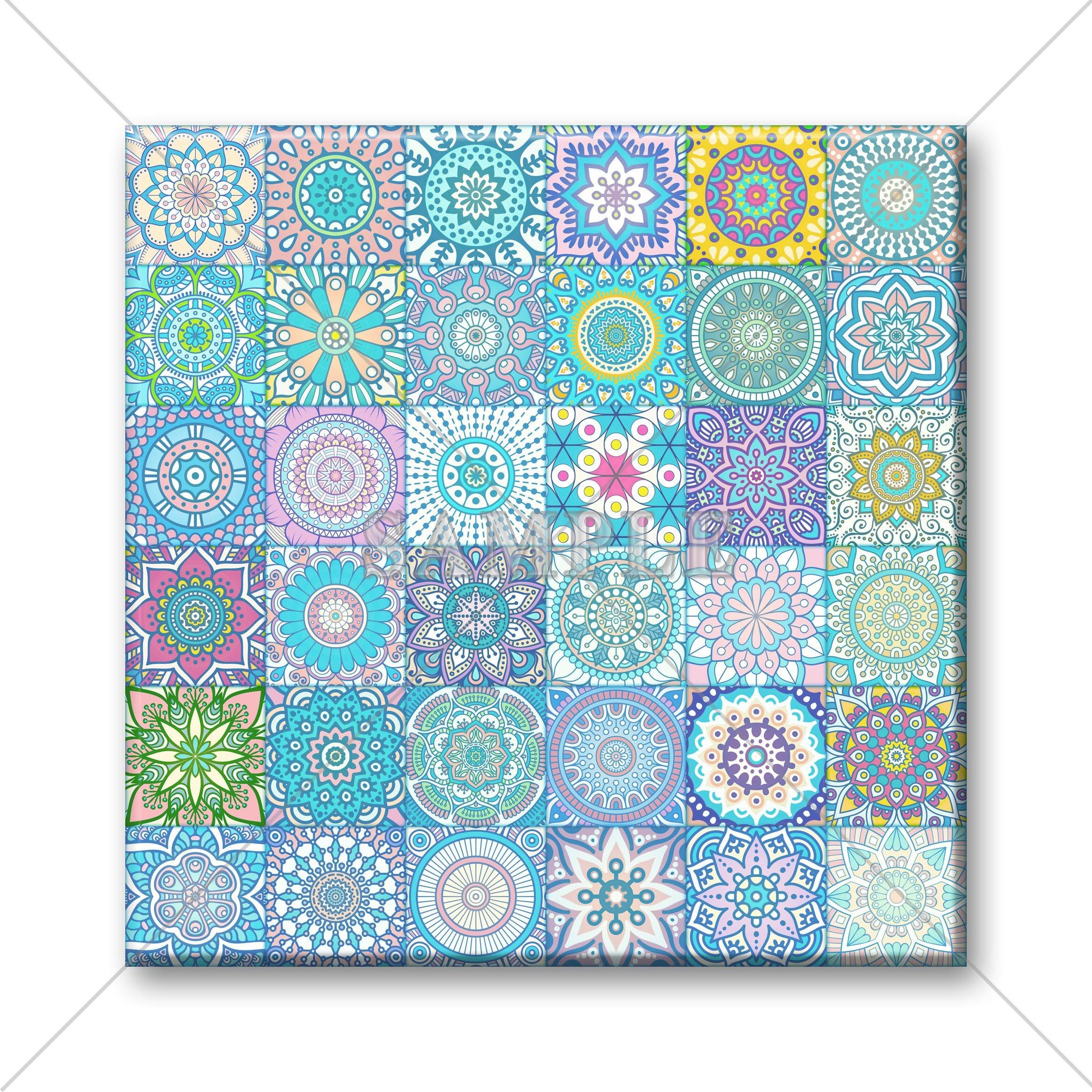 Decorative Ceramic Tile Mosaic Moroccan Tile Design Vintage | Etsy