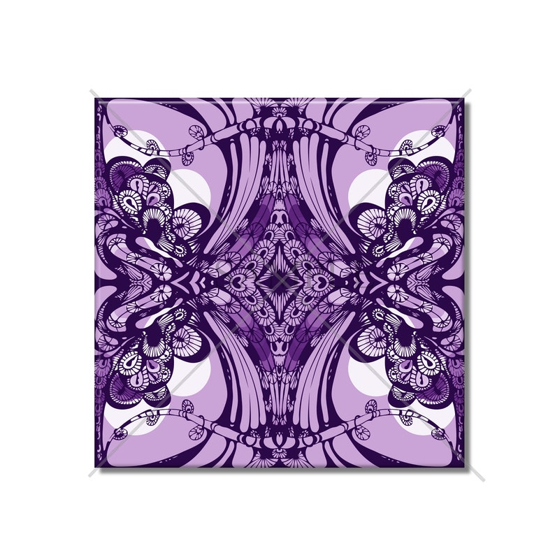 Decorative Ceramic Wall Tile Art Nouveau Tile Purple Ceramic Tile Kitchen Tiles Bathroom Tiles Mosaic Tile 4x4 or 6x6 Tile