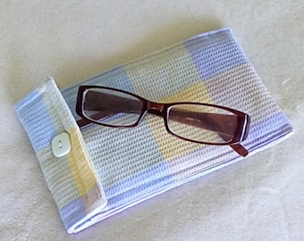 Fabric Eyeglass Case, Cell Phone Case, Padded Eyeglass Case, Padded Cell Phone Case, Gift for Her, Free Shipping