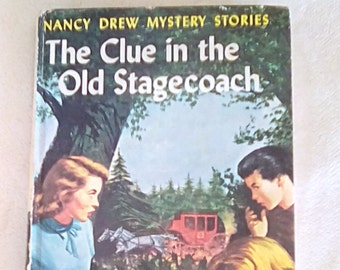 The Clue in the Old Stagecoach, Nancy Drew Mystery Stories #37, by Carolyn Keene, Hardcover, Vintage (1960)