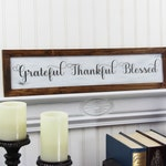 Grateful Thankful Blessed Sign Rustic Fall Decor Farmhouse Dining Room Kitchen Sign Thanksgiving Sign Fixerupper Decor Magnolia Market Sign