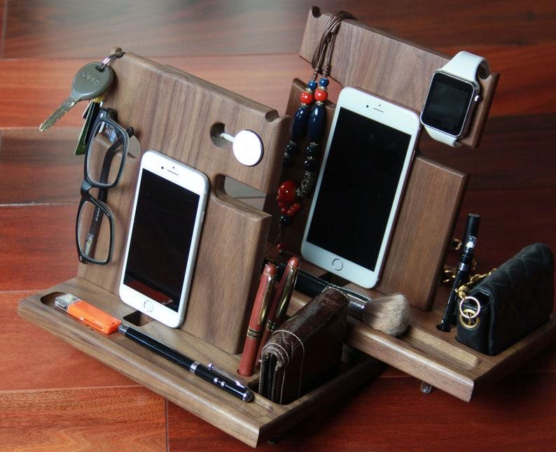 Dorm Desk Organizer Docking Station Charging Station Phone image 0