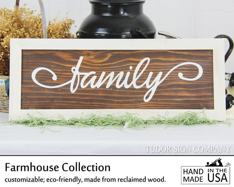 Rustic Family Sign Farmhouse Decor Living Room Entryway image 0