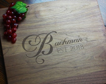 Charcuterie Personalized Wedding Gift for Couples, Custom Wood Cutting Board for Birthday, 5th Anniversary Gift for Husband Boyfriend Fiance
