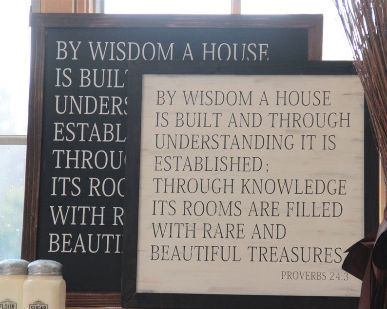 Classical Conversations Homeschool Sign Proverbs 24:3 By image 0