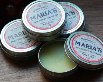 Maria's Fine Furniture Polish, Cutting Board Oil, Cutting Board Conditioner, Wood Wax, Carving Board Polish, Maria's Spoon & Board Butter