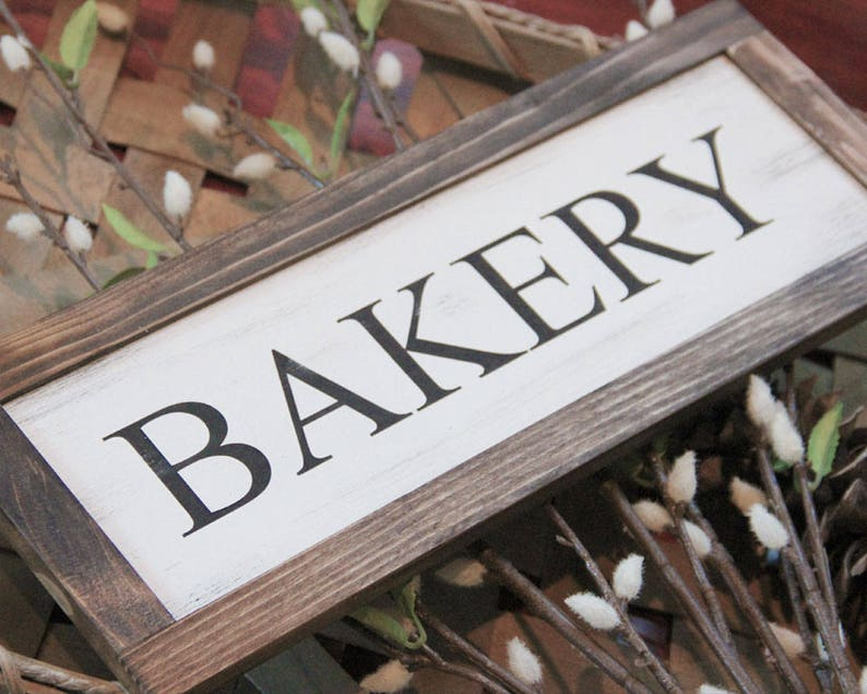 Bakery Sign Optional Trio Signs  Bakery Laundry Pantry image 0
