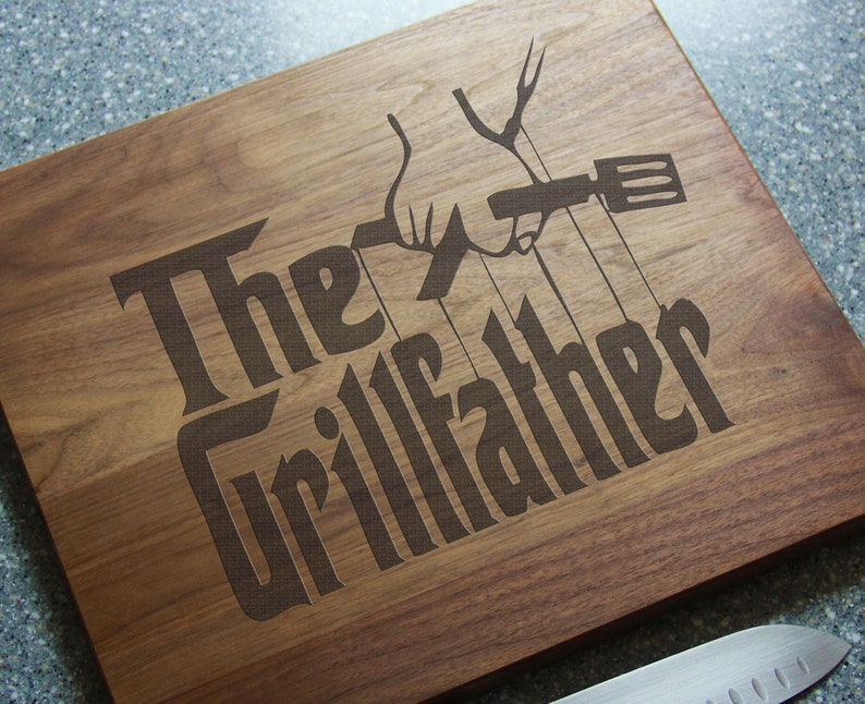 Fathers Day Cutting Board Personalized BBQ Cutting Board The image 0