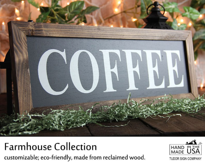 Rustic Coffee Sign Office Decor Sign Kitchen Sign Magnolia Etsy