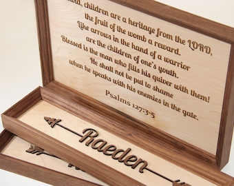 Psalm 127 Quiver Arrow Sign, Fathers Day Gift, Nursery Sign, Homeschool Sign, Classical Conversations Sign, Farmhouse Decor, Pastor Gift