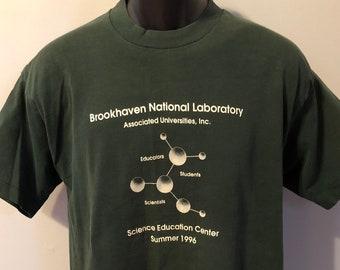 0cbddd04e3a9ab 1996 Brookhaven National Laboratory Shirt Vintage Tee 90s Science Education  Center Summer Students Scientist College University Molecule XL