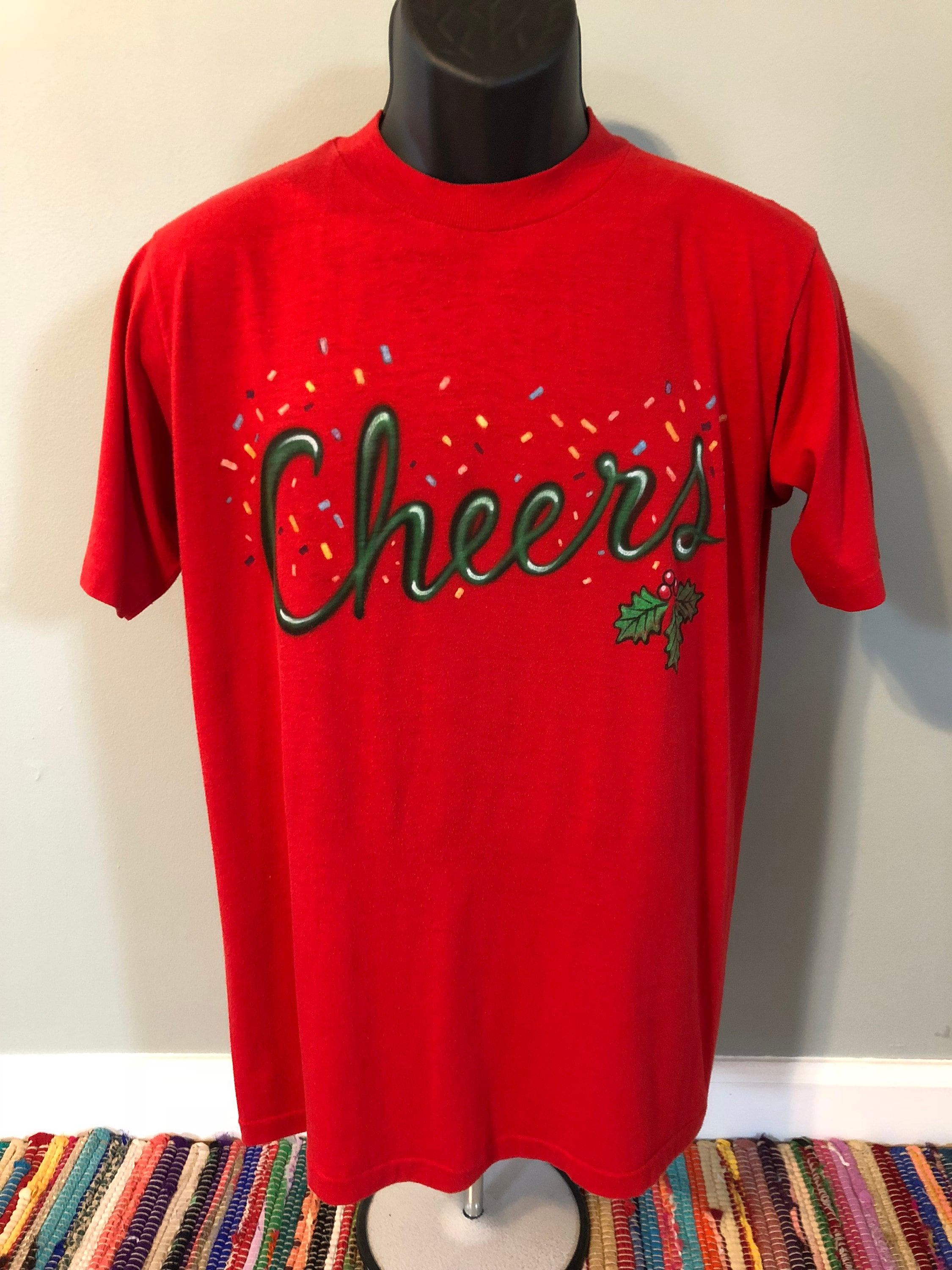17420357 80s Cheers Holiday Shirt Vintage Tee Christmas Tree Santa Ugly | Etsy