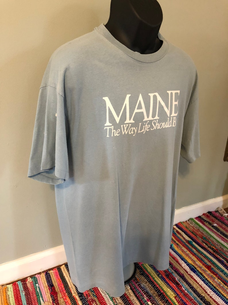 1997580d193c92 80s Maine Way Life Should Be Shirt Vintage Tee Lobster State