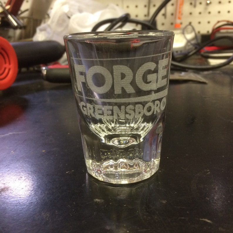 5x Laser Etched 2 oz. Shot Glass image 0