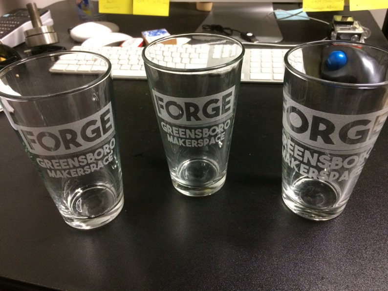 4x Laser Etched Pint Glass image 0