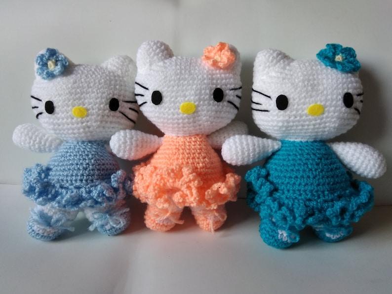 876f00348 Hello Kitty amigurumi. Crochet doll hello kitty. Toy crochet.   Etsy