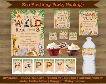 Zoo Birthday Invitation Jungle Animal Safari Printable
