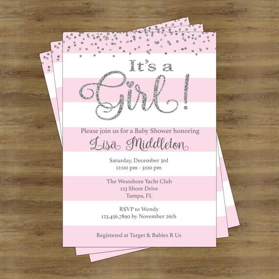 Its a girl baby shower invitation girl baby shower invitation etsy image 0 filmwisefo