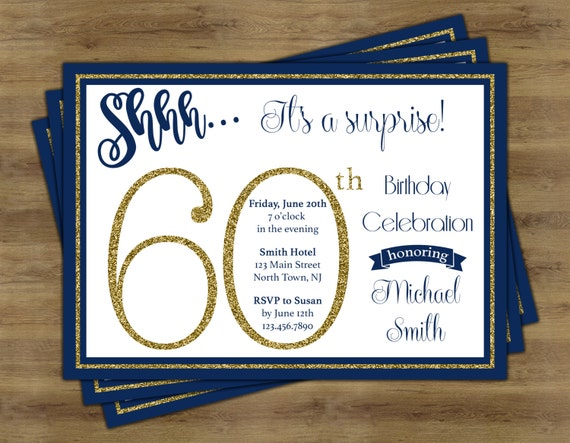 Surprise 60th Birthday Invitation Surprise Birthday Etsy