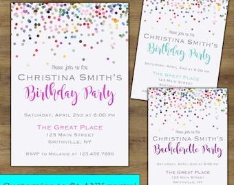 Adult Birthday Invitation; Adult Birthday Party Invitation; Bachelorette Party Invitation Printable; Baby Sprinkle Invitation
