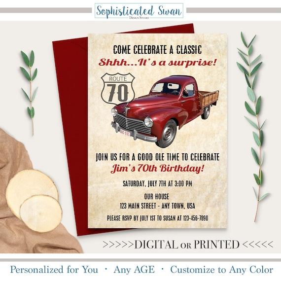 Oldtimer Einladung Oldtimer Laden Oldtimer Einladung 60 Etsy