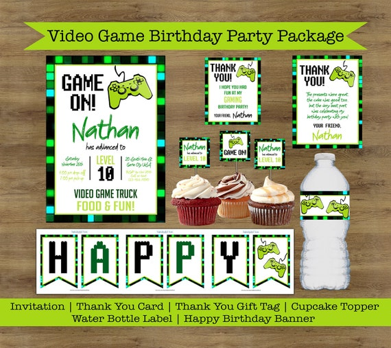 Game Truck Invitation Video Game Party Printables Video Game Etsy