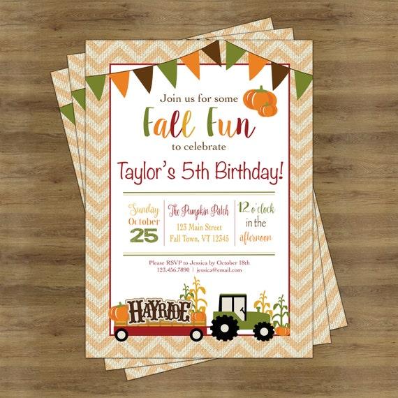 fall birthday invitation fall birthday party fall party etsy