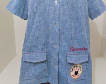 Bowling Shirt, Vintage Bowling, Women's Bowling, Embroidered Shirt, Women's Jersey, Women's Sportswear, Button Up Shirt