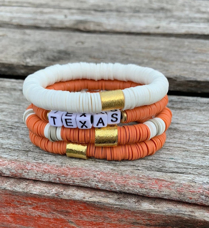 TEXAS SPECIALTY  Stack Disc Heishi Bracelets/8mm Stack Soft image 0