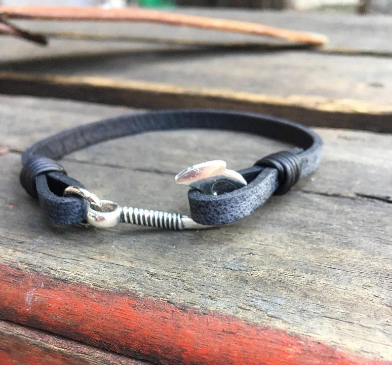 Men's Fishhook Bracelet/Fisher of Men Bracelet/Men's image 0