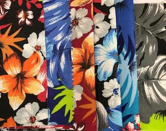 Yardage Available Tropical flowers Cotton Hawaiian Print