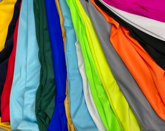 """Shiny Nylon Spandex, 4-way stretch,60"""" Wide, Many colors available, Sells by full yards only."""
