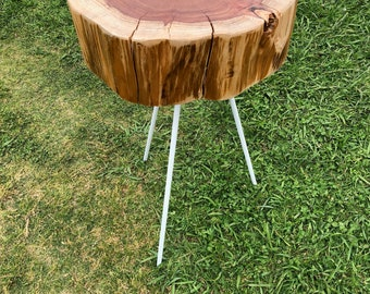 Redwood Cookie Side Table (Tripod Legs)