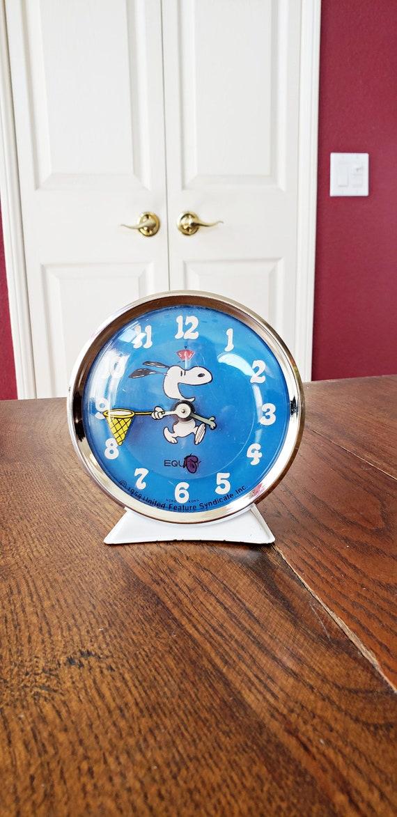 Vintage Antique 1958 Snoopy Peanuts Mechanical Alarm Clock Etsy